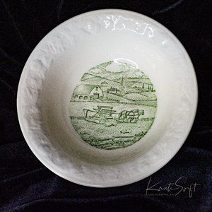 Taylor, Smith, and Taylor, Pastoral,Green bowl